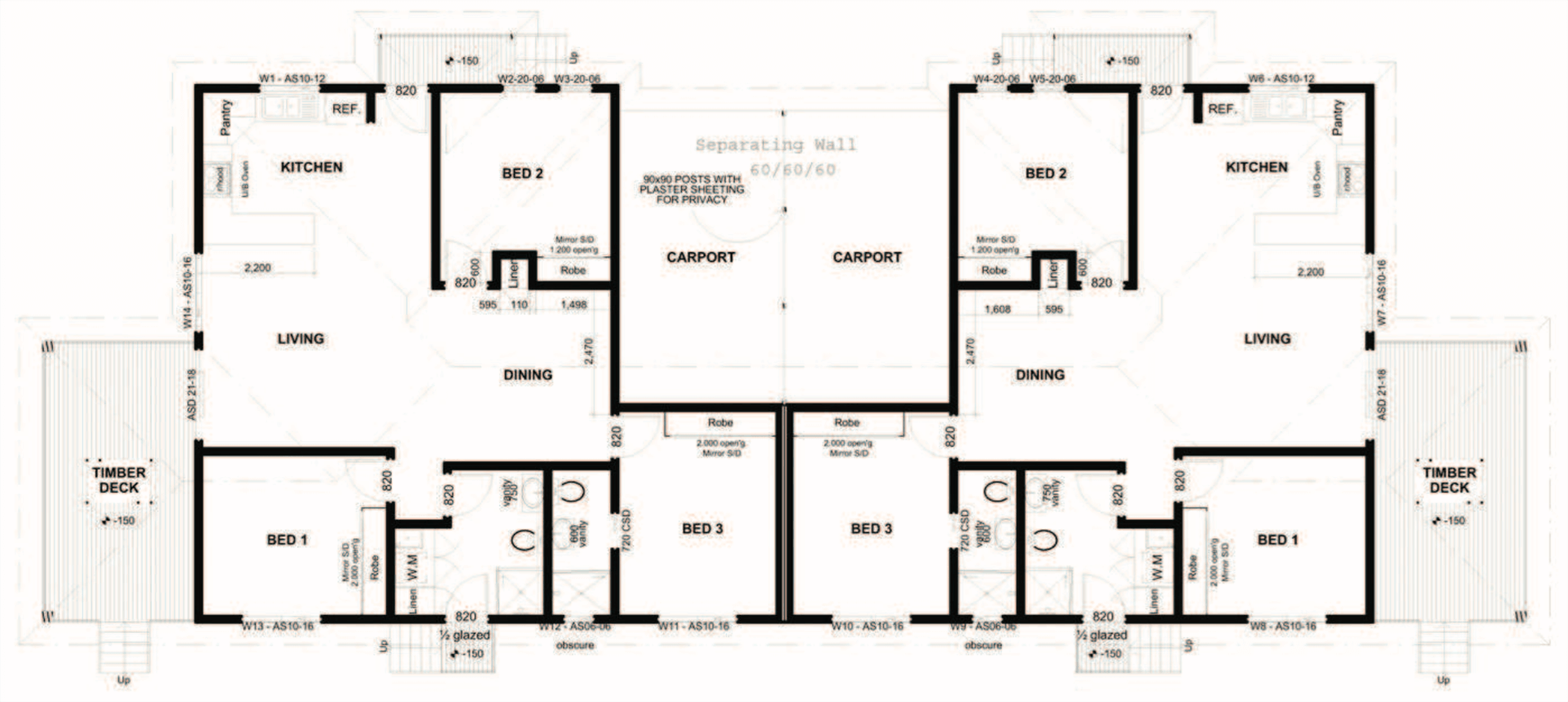 Duplex Floor Plan 1