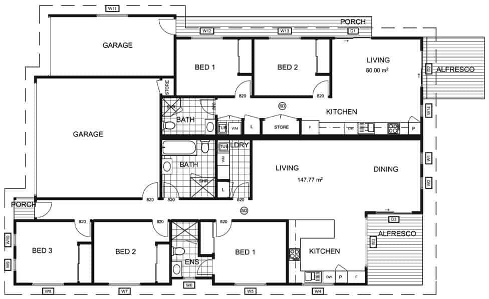 Dual Occupancy Floor Plan