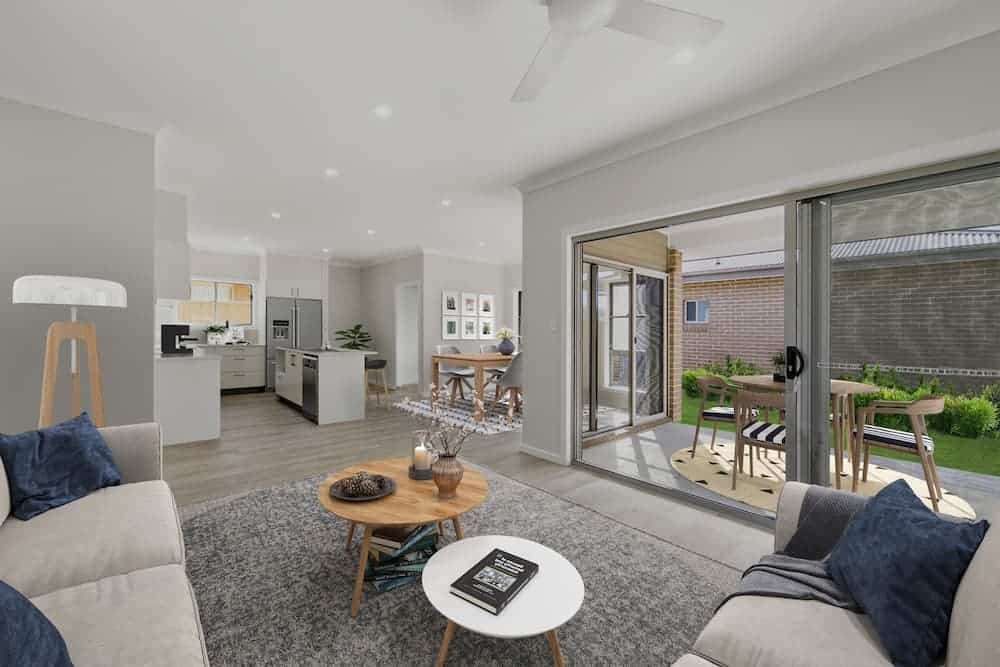 New-Build House and Granny Flat Combo in Umina Beach, Central Coast - Living Room